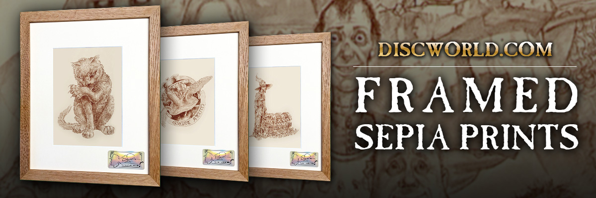Framed Sepia Discworld Prints