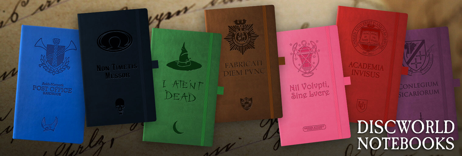 Order the full range of Discworld Notebooks