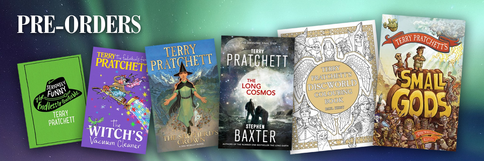 Pre-order the latest Terry Pratchett books