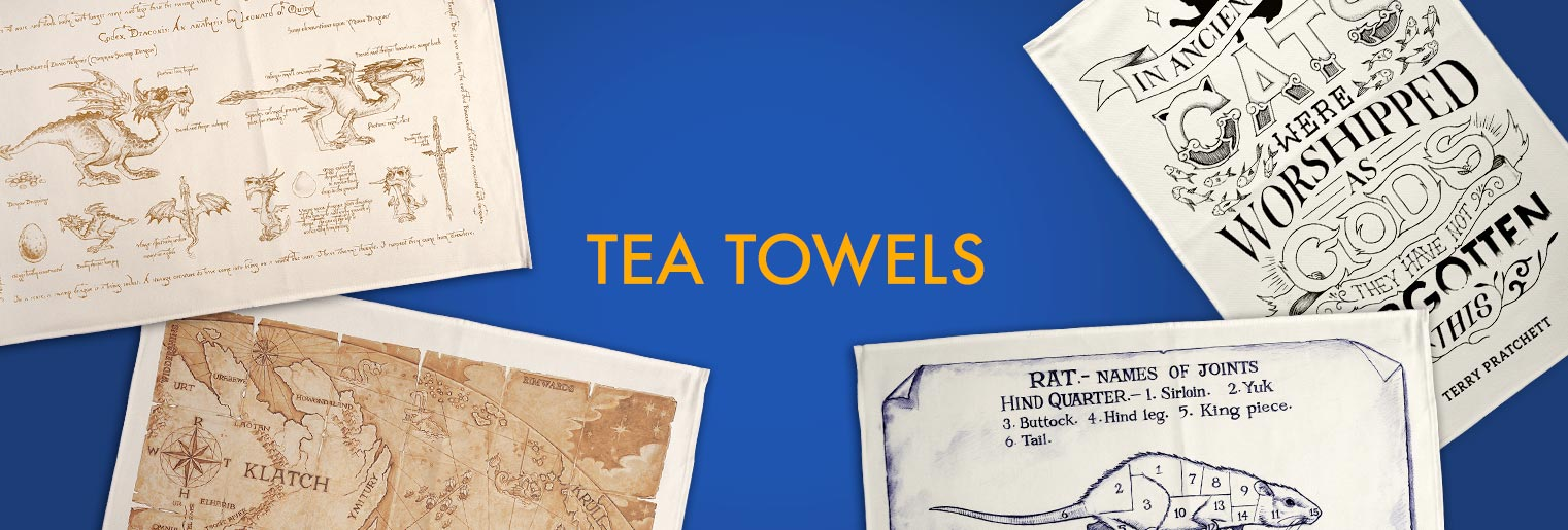 Discworld Tea Towels from Gimlet's Kitchen