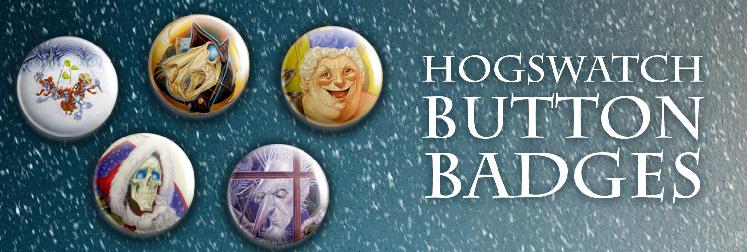 Hogswatch Button Badges