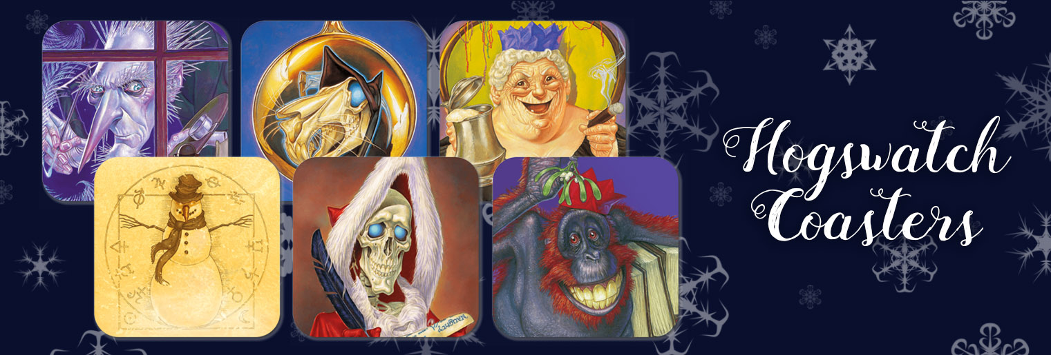 Discworld Hogswatch Coasters