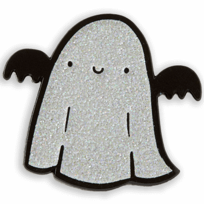 Punky Pin Sparkly Ghost