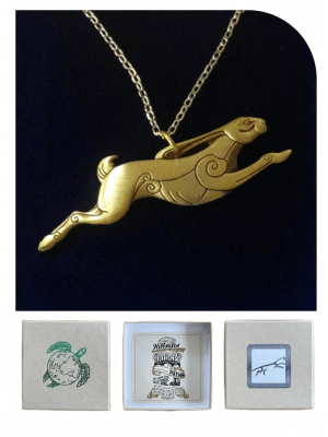 Tiffany's Hare Necklace - Gold