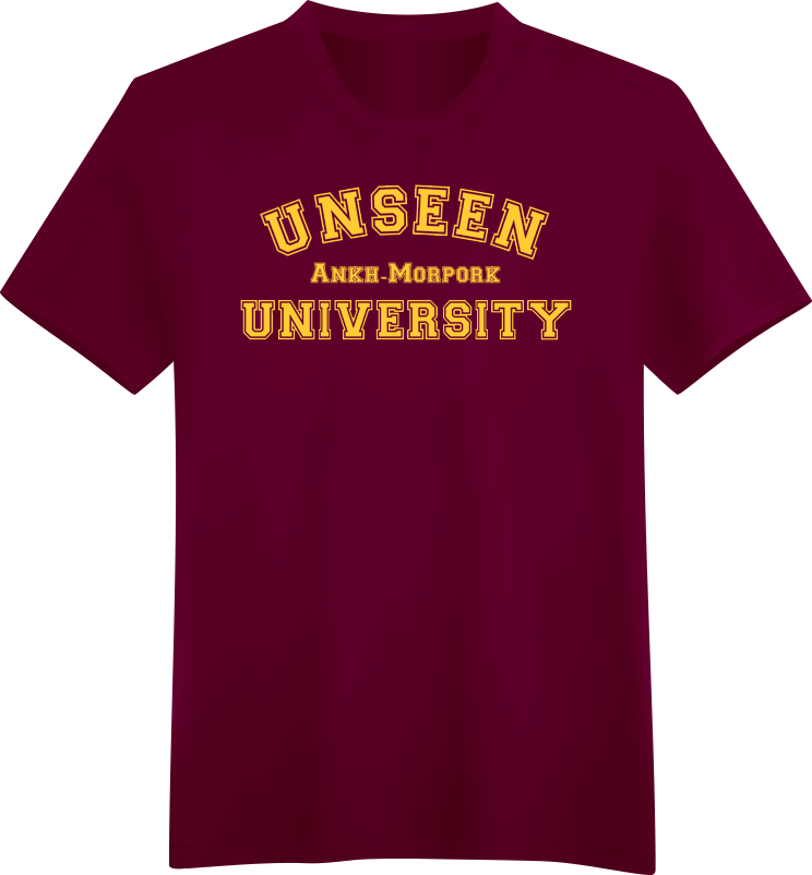 Unseen university for University t shirts with your name
