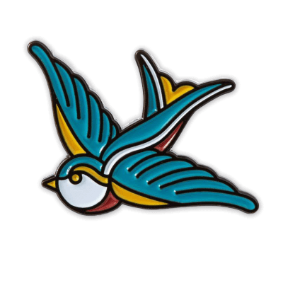 Discworld_com Swallow Tattoo Inspired Pin Badge
